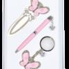 """Набор подарочный """"Fly"""": ручка шариковая + брелок + закладка, розовый"""