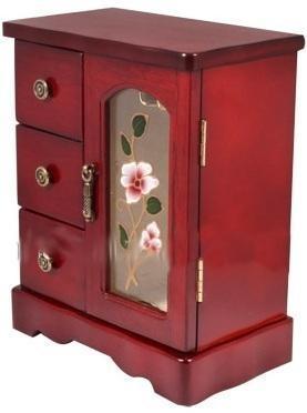Шкафчик для украшений с креплениями для цепочек King Wood 10х17х21,5см, венге