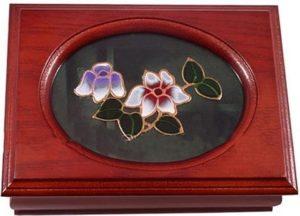 Шкатулка для украшений одноярусная King Wood 10х14х6 см, вишня