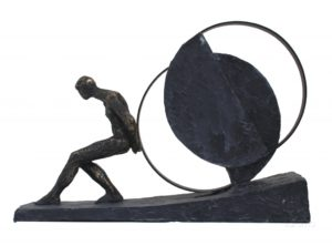 Статуэтка из смолы и бронзы ITALFAMA Until The End «До конца» 36 х 10 х 25 см