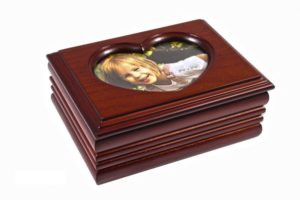 Шкатулка для украшений одноярусная King Wood 9х12,5х5 см., коричневая