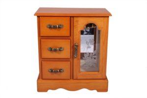 Шкафчик для украшений с креплениями для цепочек King Wood 18х9,5х20 см, орех