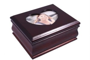 Шкатулка для украшений одноярусная King Wood 11,5х14х6 см, коричневая