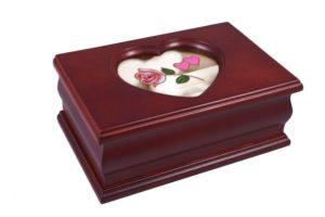 Шкатулка для украшений одноярусная King Wood 17х11х7 см, коричневая