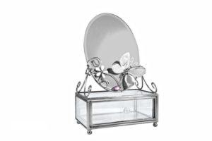 """Шкатулка с зеркалом Charme de Femme """"Зеркальная бабочка"""" 13х8х6 см"""