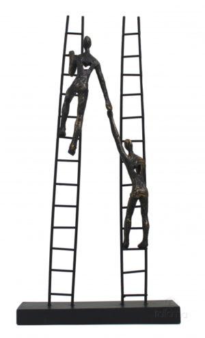 Статуэтка из смолы и бронзы ITALFAMA Always Together «Вместе навсегда» 21 х 7 х 42 см