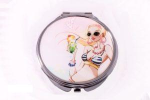 Зеркало косметическое Jardin D`ete, 6х6 см, серебристый