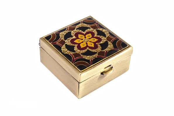 Таблетница Leif Lowe, 4х4 см, золотой