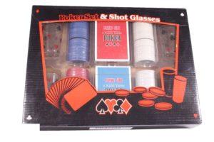 Набор для игры в пьяный покер Duke (100 фишек, 4 рюмки)