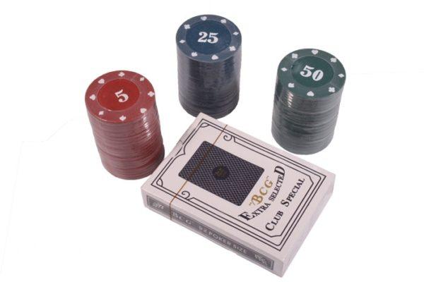 Набор для игры в покер Duke на 60 фишек с номиналом