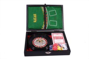 Набор из 2 игр: рулетка и минипокер Duke в кожанном кейсе