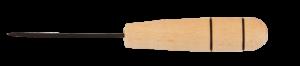 Шило канцелярское, деревянная ручка, длина иглы 6 см, по 10 шт.
