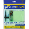 Салфетка микрофибра для стекла и зеркал Buroclean 30х30см, салатовая