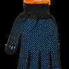 Перчатки черные BuroClean ECO с ПВХ точкой, 3 нити
