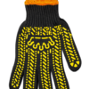 Перчатки черные BuroClean EuroStandart с ПВХ точкой, 6 нитей