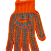 Перчатки оранжевые BuroClean EuroStandart с ПВХ точкой, 6 нитей