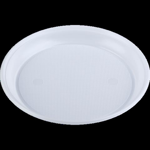 Тарелка десертная одноразовая, d-16,5см, белая, 1-секция, 4 г, 100 шт