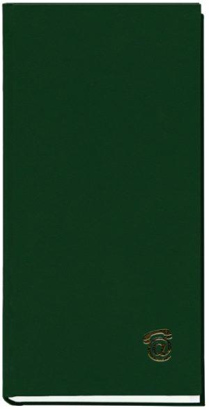 Книга алфавитная А6, 80 листов, зеленая