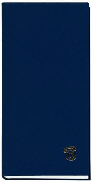 Книга алфавитная А6, 80 листов, синяя