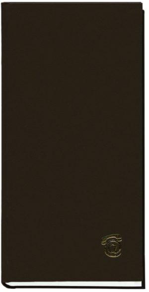 Книга алфавитная А6, 80 листов, черная