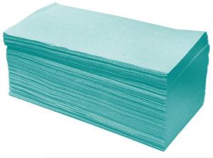 Полотенца-вкладыши Z-Best V-сложение 230х245мм, 160шт, зеленые