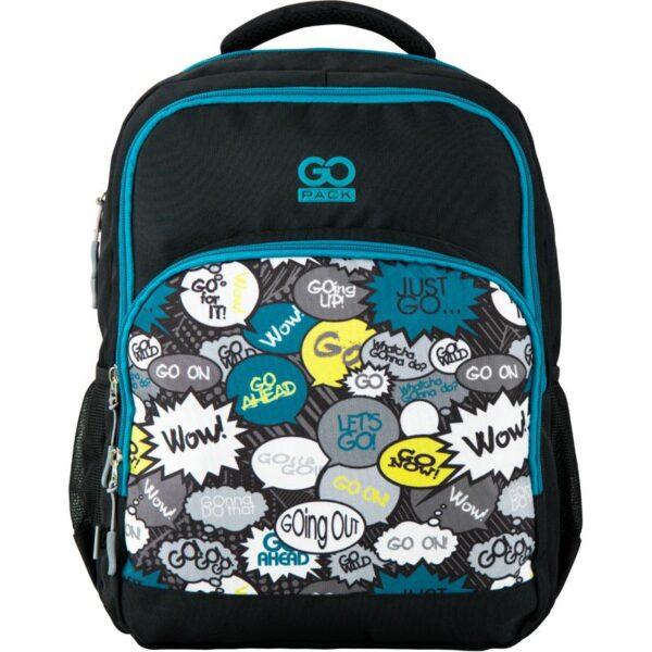 Рюкзак GoPack Education 113-5 Just go, 20л, светоотражающие элементы, черный