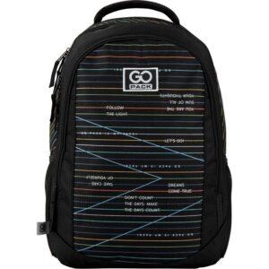 Рюкзак GoPack Education 133-2 Stripes, 21л, светоотражающие элементы, черный