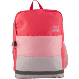 Рюкзак GoPack Сity 158-2, 2 отделения, светоотражающие элементы, розовый