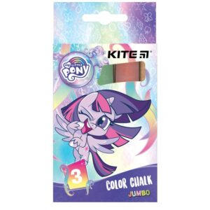 Мел цветной цилиндрический JUMBO 3 цвета, 3шт. My Little Pony LP21-077