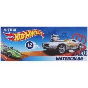 Акварельные краски 12 цветов, без кисти Hot Wheels HW21-041, картон. упаковка
