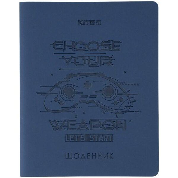 Дневник школьный PU, Game 170х210мм, мягкая обложка K21-283-5