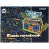 Тетрадь для нот А5, 20 листов, на скобе Kite, Make some noise K21-405