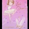Дневник школьный BALLERINA, B5, 48 листов, твердая обложка, иск.кожа / поролон, розовый