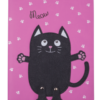 Дневник школьный FAT CAT B5, 48 листов, твердая обложка, иск.кожа / поролон, фуксия