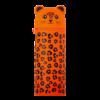 Пенал силиконовый ЛЕОПАРДИК, 19Х6 см, 1 отделение, оранжевый, ZB.704218