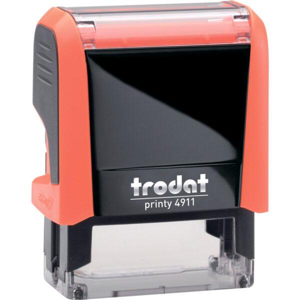 Оснастка для штампа 38х14мм TRODAT, оранжевый корпус неон