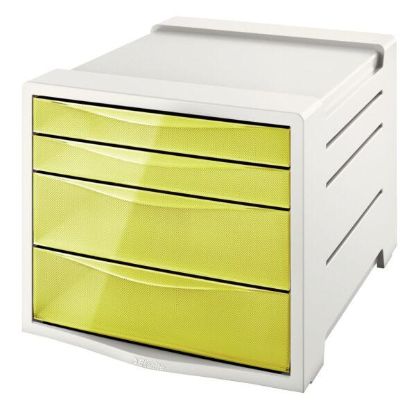 Настольный короб на 4 ящика Esselte Colour'ice, желтый