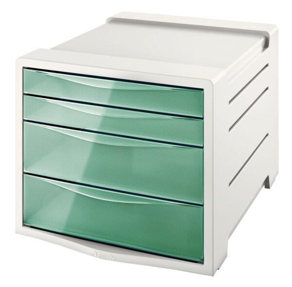 Настольный короб на 4 ящика Esselte Colour'ice, зеленый