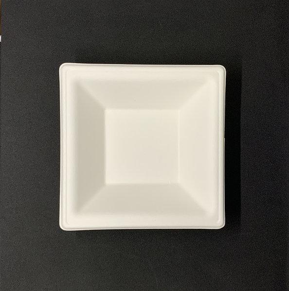 Тарелка бумажная, квадратная Эко 16х16см белая, 125шт