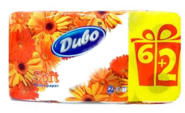 Туалетная бумага Диво Обухов 2 слоя, 6+2 рулонов, белая