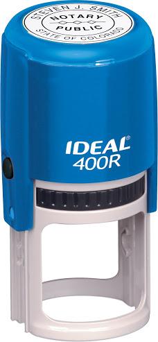 Оснастка для круглой печати D-40мм с защитным футляром, синий корпус