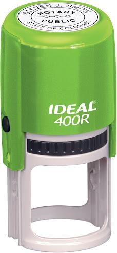 Оснастка для круглой печати D-40мм с защитным футляром, зеленый корпус