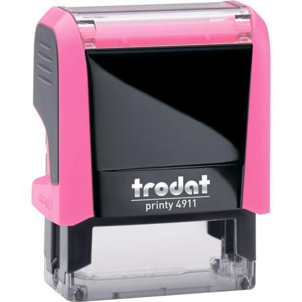 Оснастка для штампа 38х14мм TRODAT, розовый корпус неон