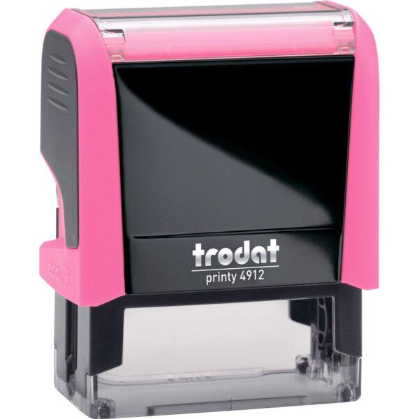 Оснастка для штампа 47х18мм TRODAT, розовый корпус неон