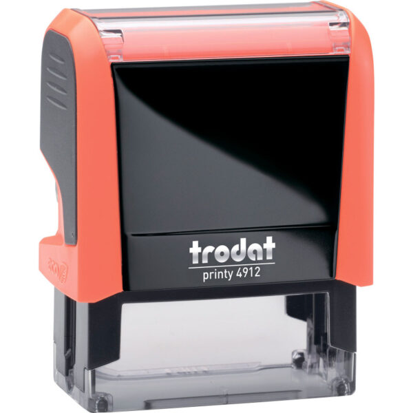 Оснастка для штампа 47х18мм TRODAT, оранжевый корпус неон