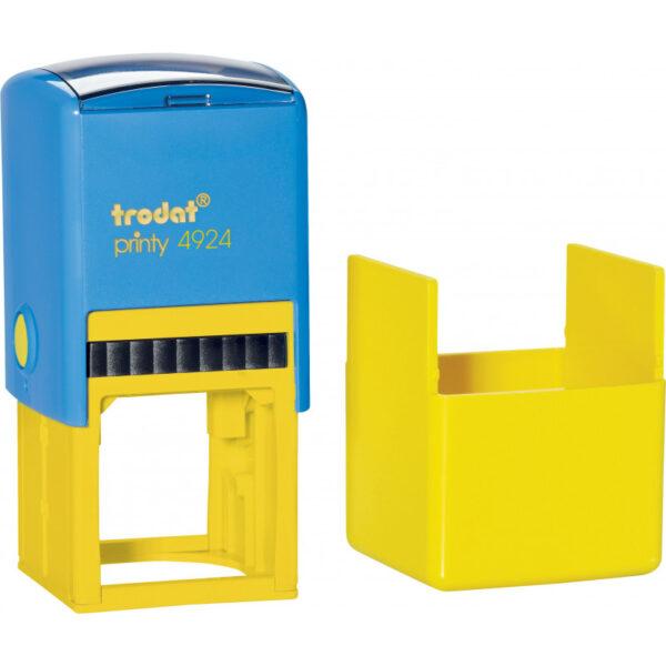 Оснастка для штампа или печати 40х40мм TRODAT с колпачком, сине-желтый корпус