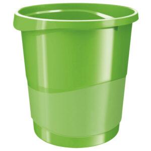 Корзина для бумаг пластиковая Esselte Vivida, 14л, зеленая