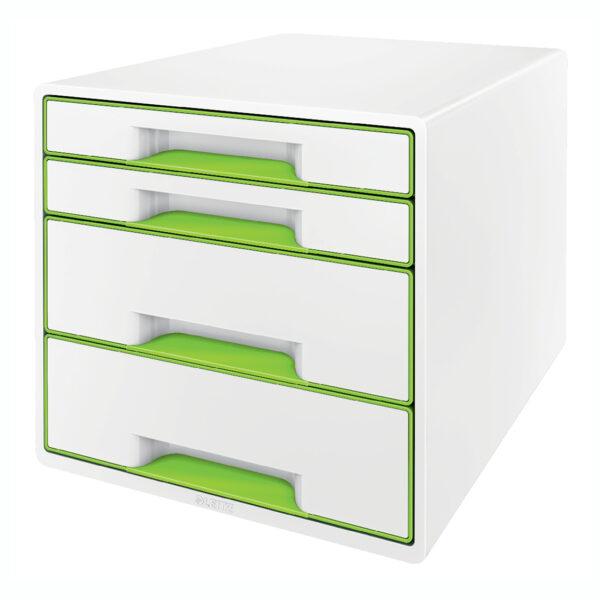 Настольный короб на 4 ящика Leitz WOW CUBE, зеленый