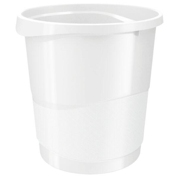 Корзина для бумаг пластиковая Esselte Vivida, 14л, белая