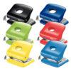 Дырокол пластиковый RAPID Fashion FC30, пробивает до 30 листов, синий 56740